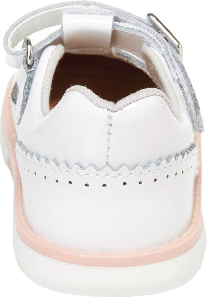 Infant Girls' Stride Rite SRT Nell Perforated T-Strap, White Patent Leather, large, image 3