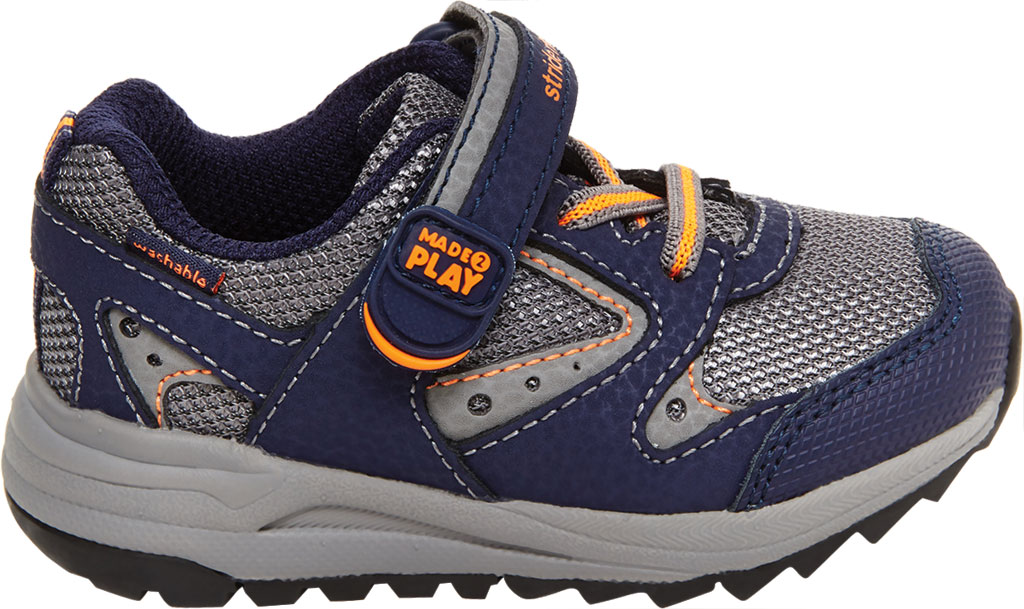 Infant Boys' Stride Rite M2P Xander Sneaker, Navy Canvas/Leather, large, image 2