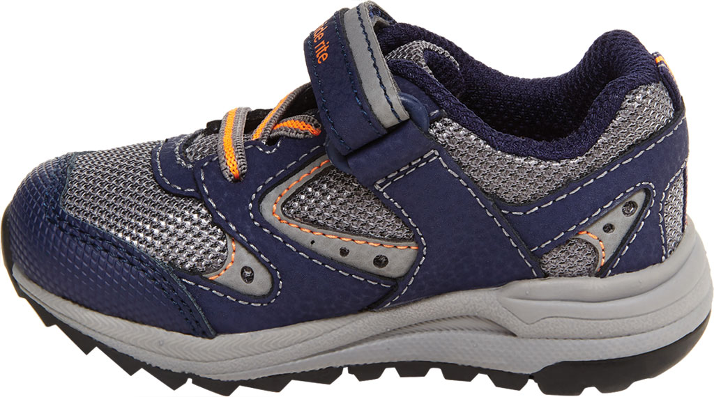 Infant Boys' Stride Rite M2P Xander Sneaker, Navy Canvas/Leather, large, image 3