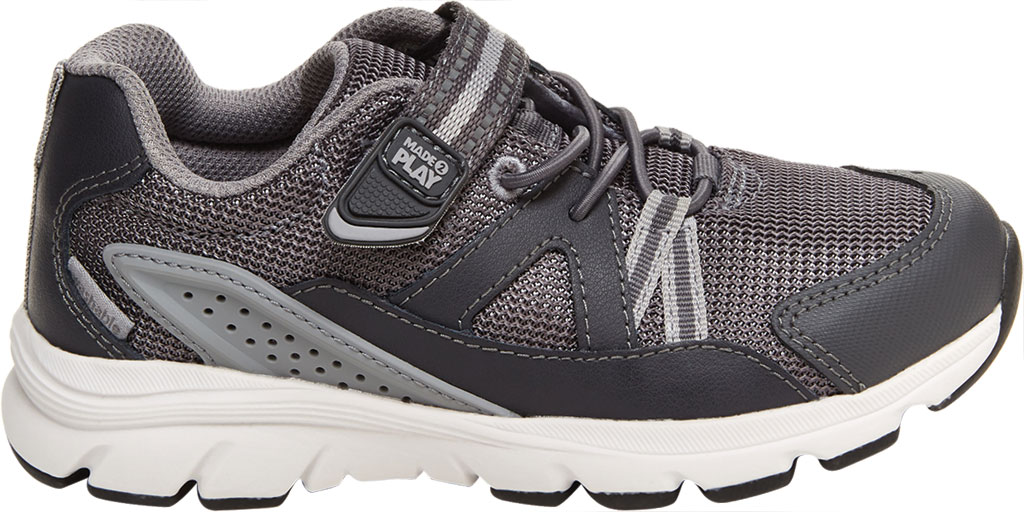 Boys' Stride Rite M2P Journey Sneaker, Grey Mesh/Leather, large, image 2