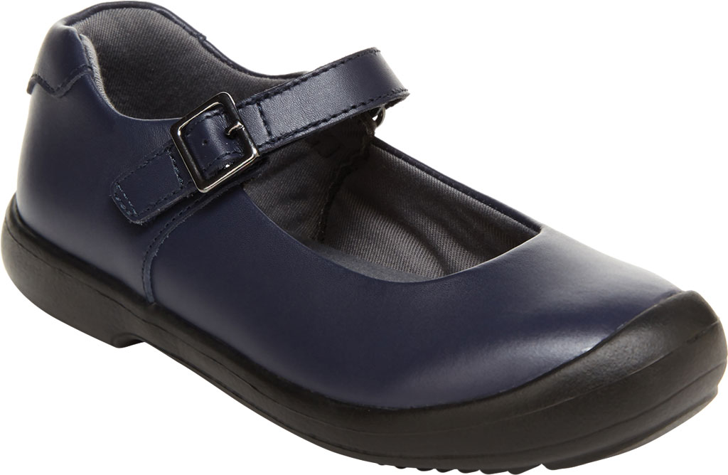 Girls' Stride Rite SR Ainsley Mary Jane, Navy Leather, large, image 1