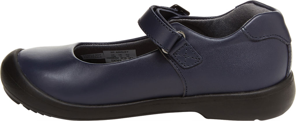 Girls' Stride Rite SR Ainsley Mary Jane, Navy Leather, large, image 3
