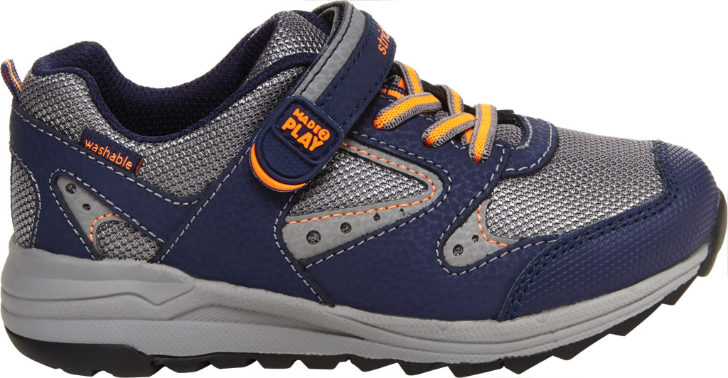Boys' Stride Rite M2P Xander Sneaker, Navy Canvas/Leather, large, image 2