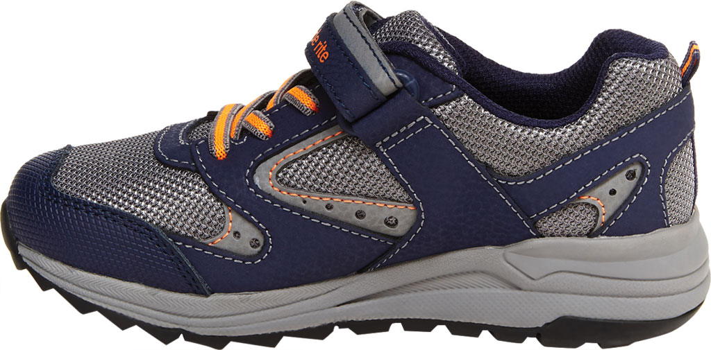 Boys' Stride Rite M2P Xander Sneaker, Navy Canvas/Leather, large, image 3