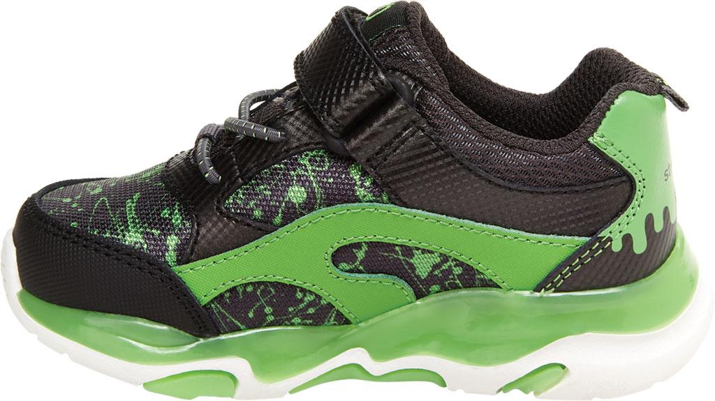 Infant Boys' Stride Rite SR Lighted Swirl Sneaker, Black/Lime Canvas/Leather, large, image 3