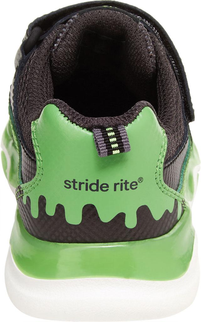 Infant Boys' Stride Rite SR Lighted Swirl Sneaker, Black/Lime Canvas/Leather, large, image 4