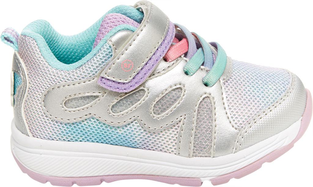 Infant Girls' Stride Rite SR Lighted Fly Away Sneaker, Multi Canvas/Mesh, large, image 2