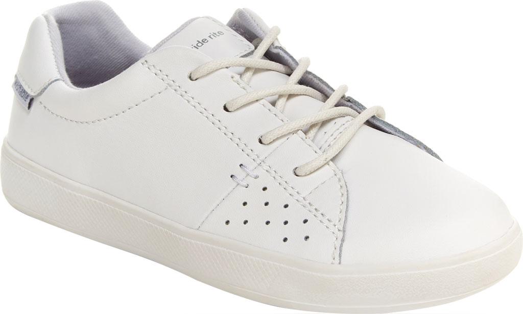 Children's Stride Rite M2P Maci Sneaker, White Leather, large, image 1