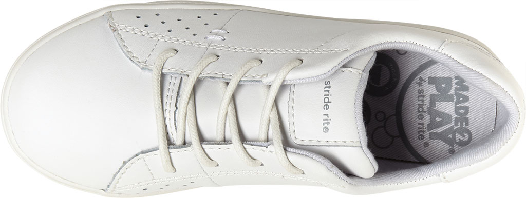 Children's Stride Rite M2P Maci Sneaker, White Leather, large, image 5