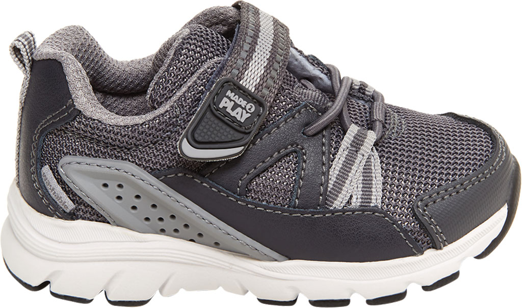 Infant Boys' Stride Rite M2P Journey Sneaker, Grey Mesh/Leather, large, image 2