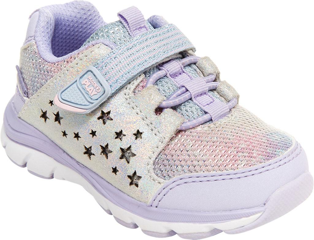 Infant Girls' Stride Rite M2P Moriah Sneaker, Lavender Glitter Leather/Mesh, large, image 1