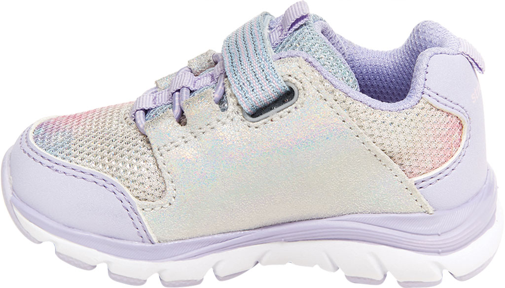 Infant Girls' Stride Rite M2P Moriah Sneaker, Lavender Glitter Leather/Mesh, large, image 3