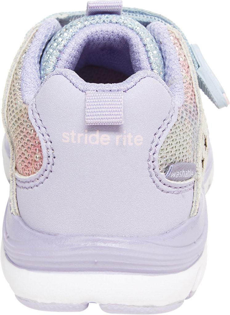 Infant Girls' Stride Rite M2P Moriah Sneaker, Lavender Glitter Leather/Mesh, large, image 4