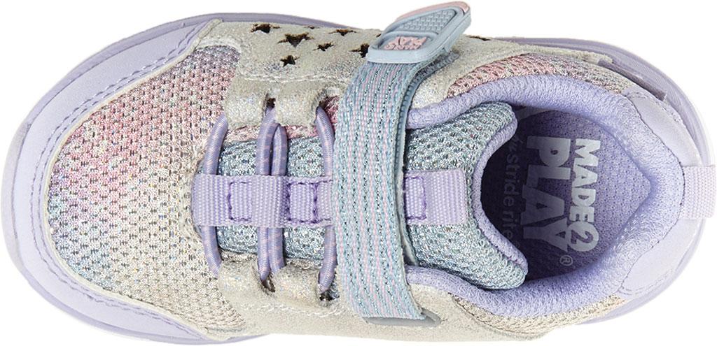 Infant Girls' Stride Rite M2P Moriah Sneaker, Lavender Glitter Leather/Mesh, large, image 5