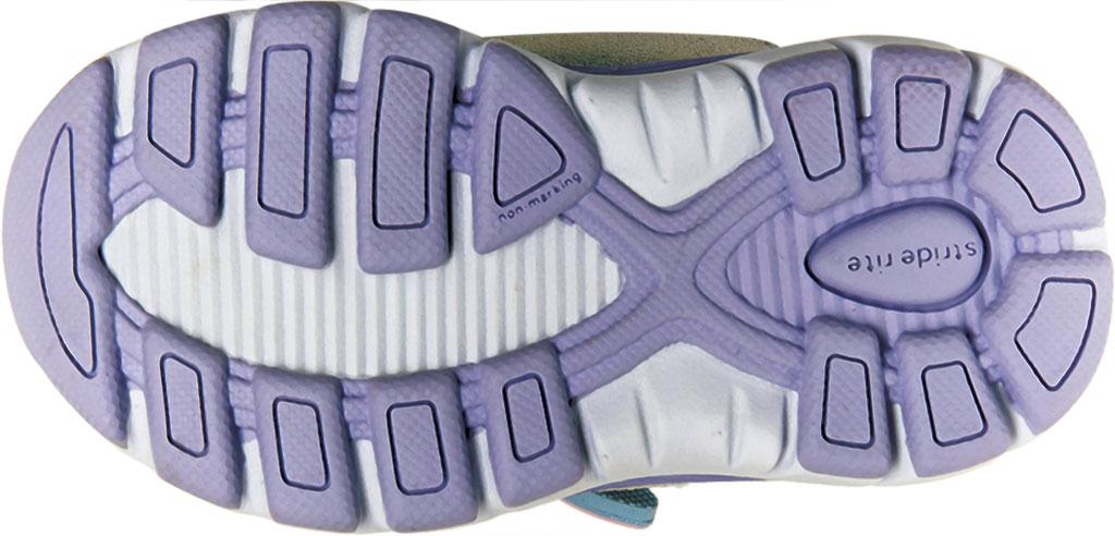 Infant Girls' Stride Rite M2P Moriah Sneaker, Lavender Glitter Leather/Mesh, large, image 6