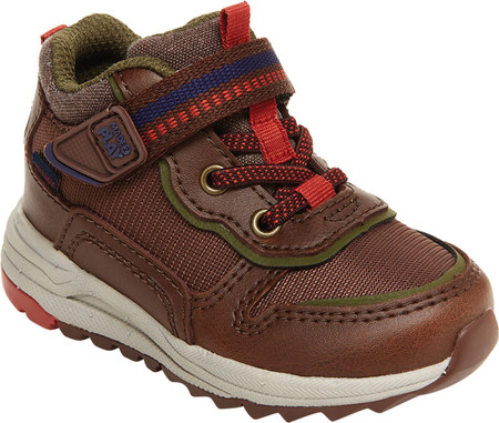 Infant Boys' Stride Rite M2P Nate Sneaker, Brown Canvas/Leather, large, image 1