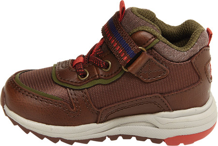 Infant Boys' Stride Rite M2P Nate Sneaker, Brown Canvas/Leather, large, image 3