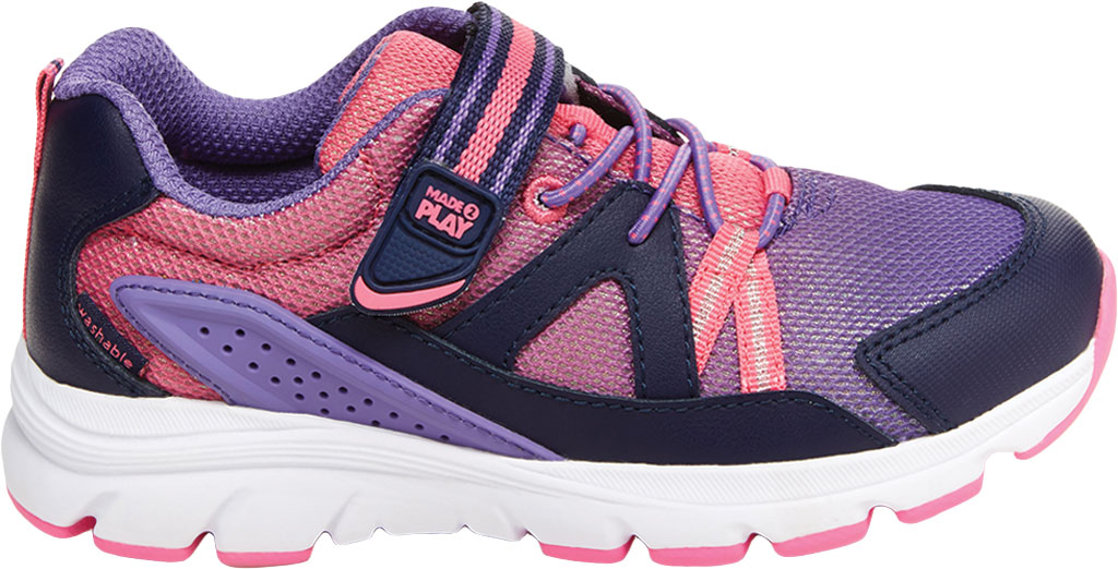 Girls' Stride Rite M2P Journey Sneaker, Purple Multi Leather/Cotton Mesh, large, image 2