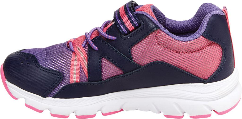Girls' Stride Rite M2P Journey Sneaker, Purple Multi Leather/Cotton Mesh, large, image 3
