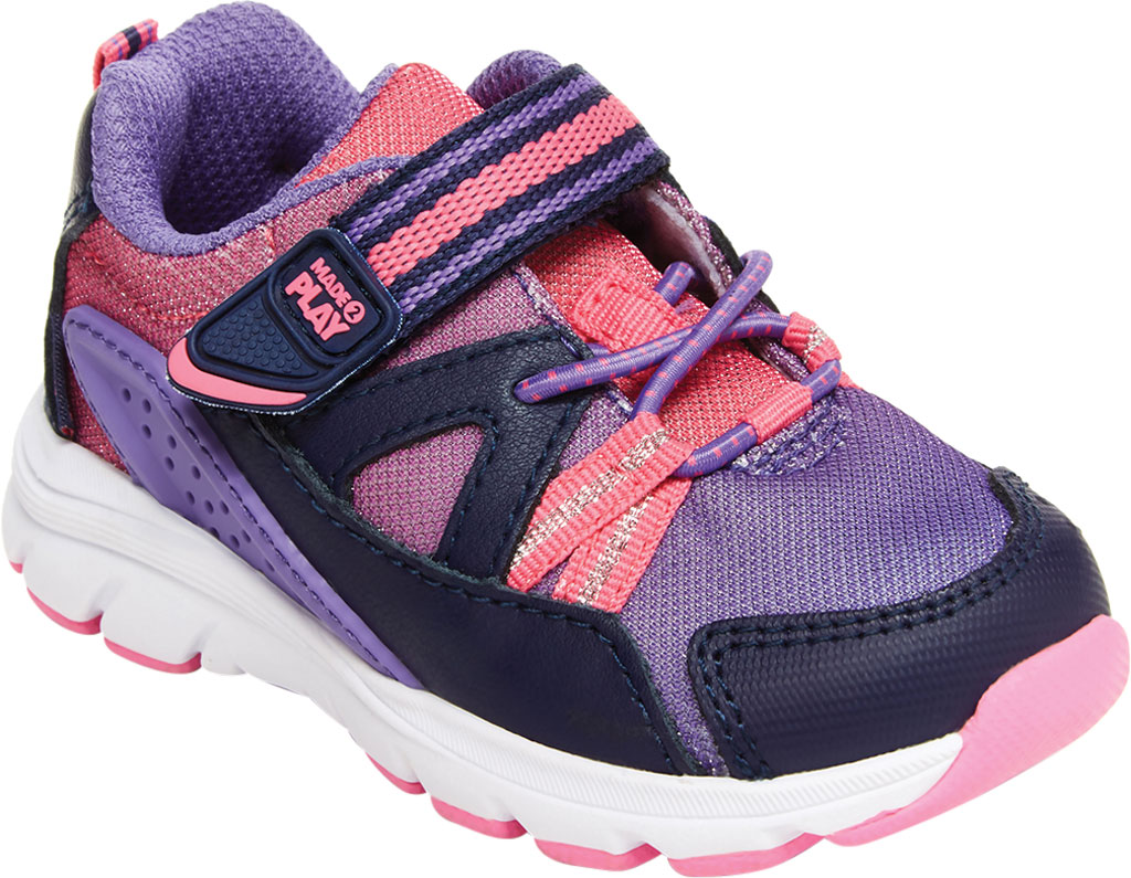 Infant Girls' Stride Rite M2P Journey Sneaker, Purple Multi Leather/Cotton Mesh, large, image 1