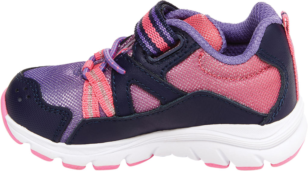 Infant Girls' Stride Rite M2P Journey Sneaker, Purple Multi Leather/Cotton Mesh, large, image 3