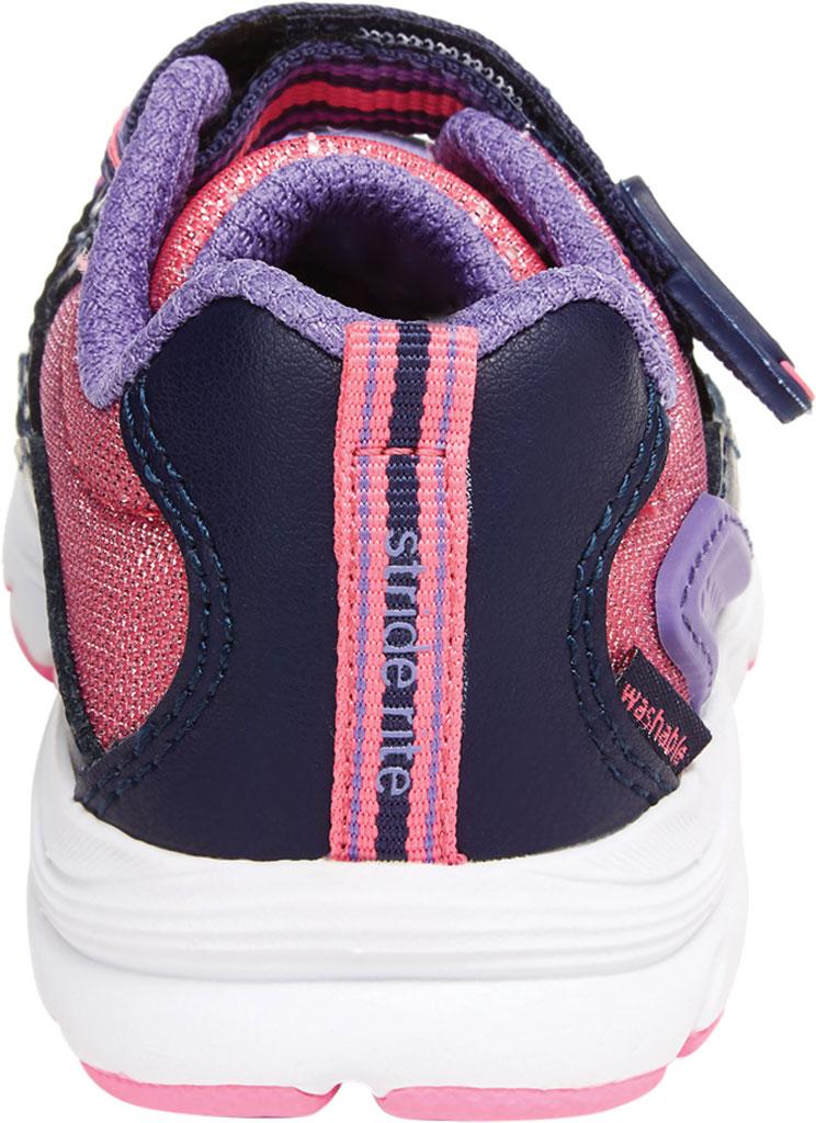 Infant Girls' Stride Rite M2P Journey Sneaker, Purple Multi Leather/Cotton Mesh, large, image 4