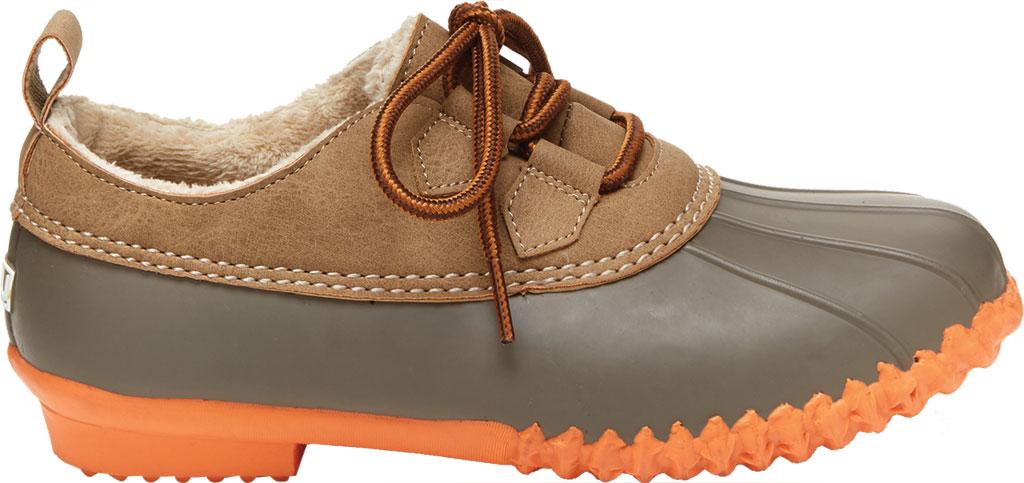 Women's Jambu JBU Glenda Waterproof Duck Shoe, Taupe/Coral Vegan Crazy Horse/Rubber, large, image 2