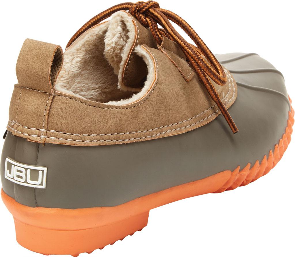 Women's Jambu JBU Glenda Waterproof Duck Shoe, Taupe/Coral Vegan Crazy Horse/Rubber, large, image 4