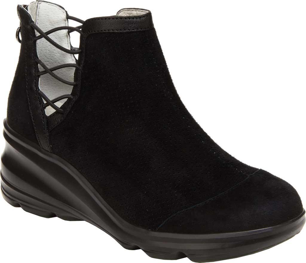 Women's Jambu Naomi Wedge Heel Bootie, Black Tumbled Leather/Kid Suede, large, image 1