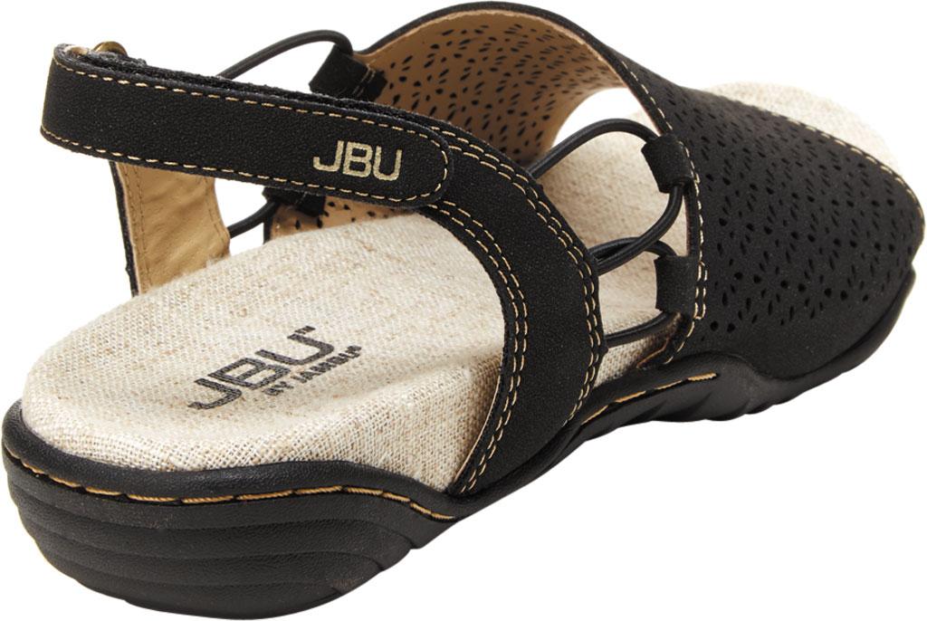 Women's Jambu JBU Pixie Vegan Slingback Sandal, Black/Tan Vegan Classic Suede, large, image 4