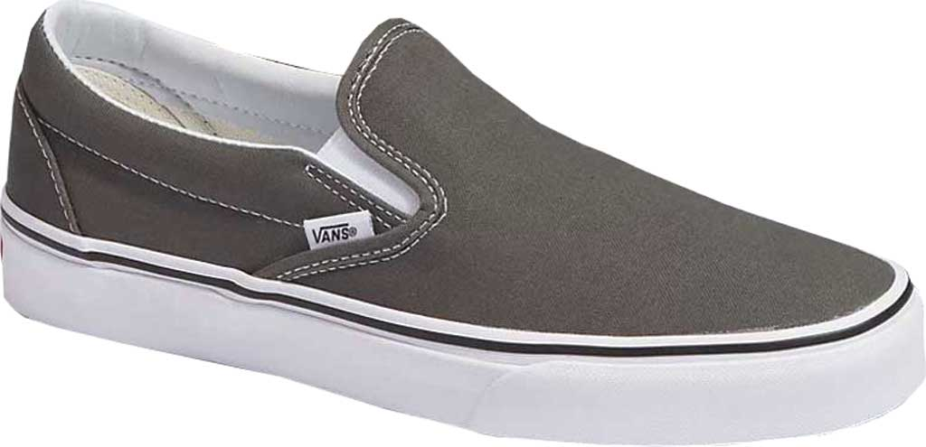 Vans Classic Slip-On, Charcoal Canvas, large, image 1