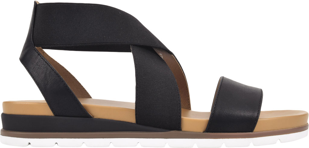 Women's White Mountain Distribute Strappy Sandal, Black Faux Burnished Leather, large, image 2