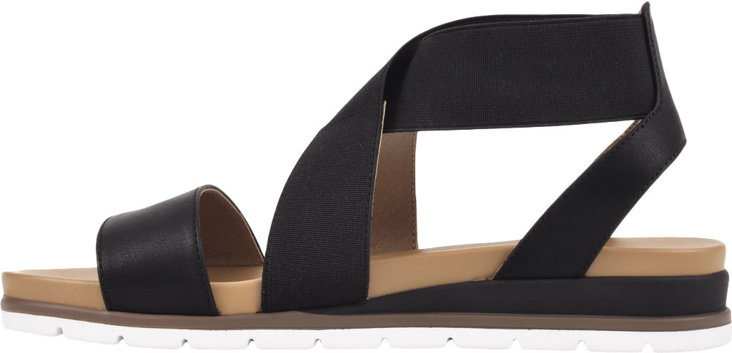 Women's White Mountain Distribute Strappy Sandal, Black Faux Burnished Leather, large, image 3