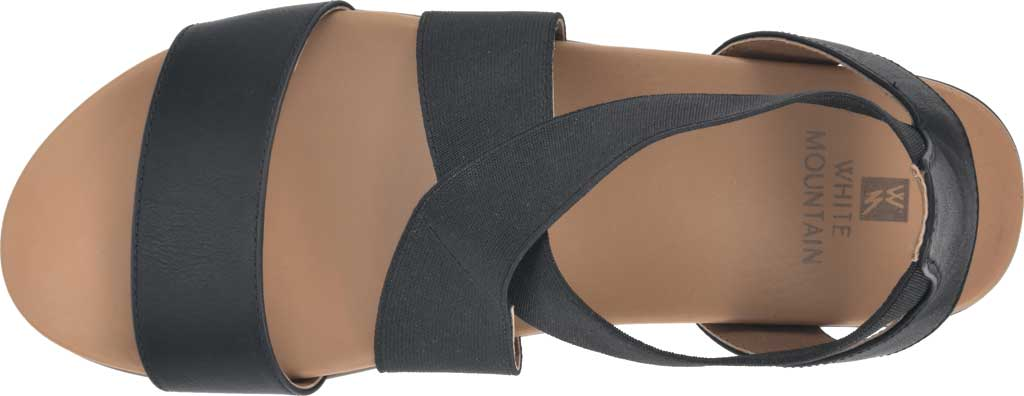 Women's White Mountain Distribute Strappy Sandal, Black Faux Burnished Leather, large, image 5
