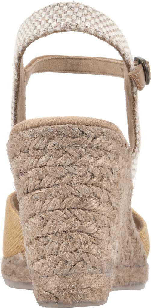 Women's White Mountain Maestro Wedge Espadrille Sandal, Honey Canvas Fabric/Burnish PU, large, image 4