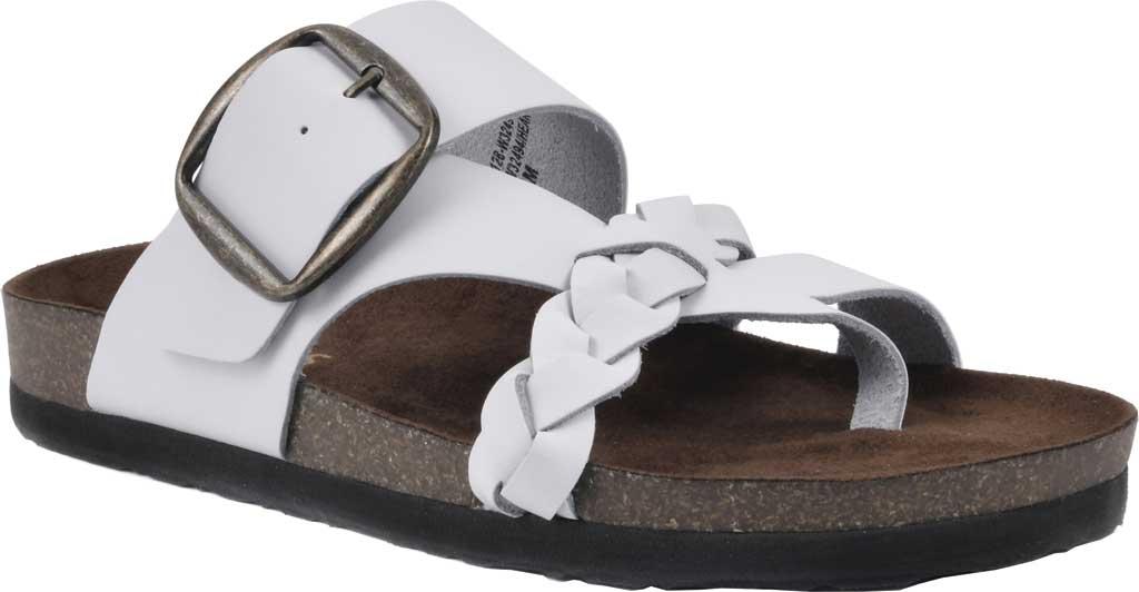 Women's White Mountain Heartfelt Strappy Toe Loop Sandal, White Action Leather, large, image 1