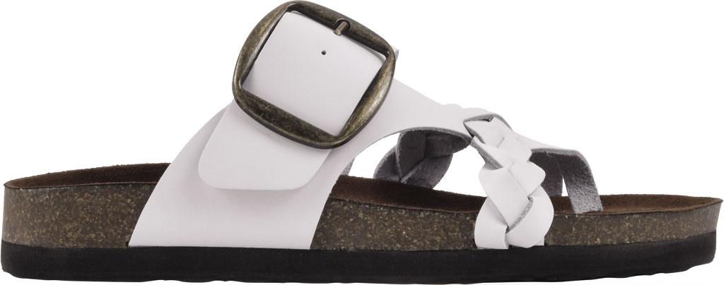Women's White Mountain Heartfelt Strappy Toe Loop Sandal, White Action Leather, large, image 2