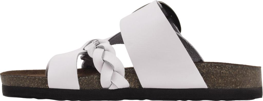 Women's White Mountain Heartfelt Strappy Toe Loop Sandal, White Action Leather, large, image 3