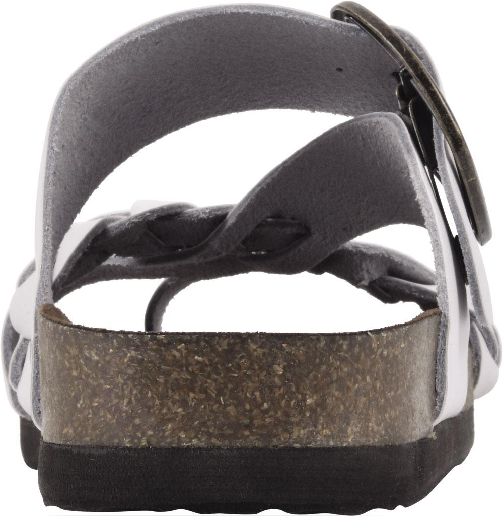 Women's White Mountain Heartfelt Strappy Toe Loop Sandal, White Action Leather, large, image 4