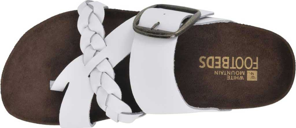 Women's White Mountain Heartfelt Strappy Toe Loop Sandal, White Action Leather, large, image 5