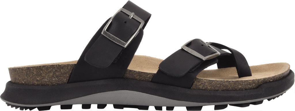 Women's White Mountain Powerful Toe Loop Sandal, Black Soft Crazy Horse Leather, large, image 2