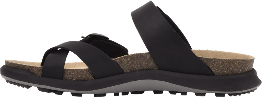 Women's White Mountain Powerful Toe Loop Sandal, Black Soft Crazy Horse Leather, large, image 3