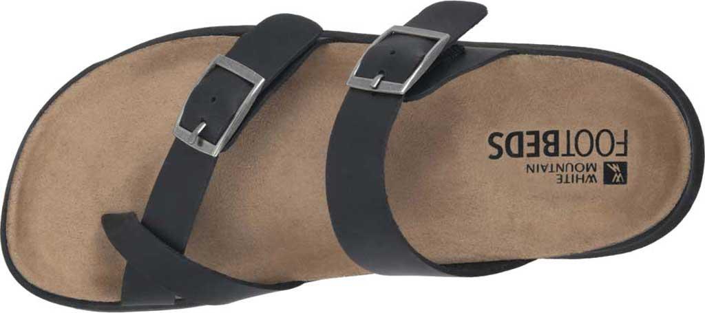 Women's White Mountain Powerful Toe Loop Sandal, Black Soft Crazy Horse Leather, large, image 5