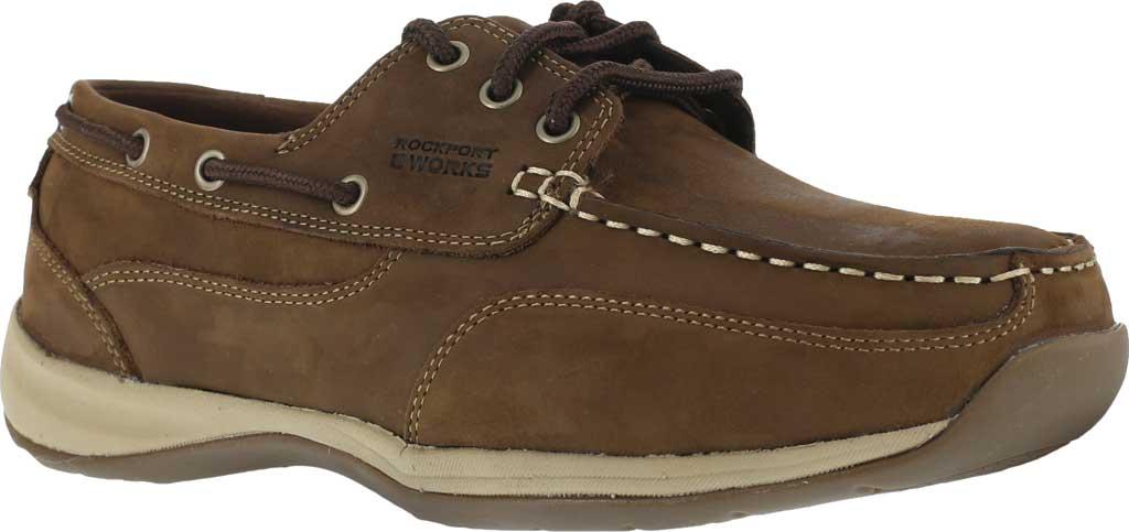 Men's Rockport Works RK6736, Brown Leather, large, image 1