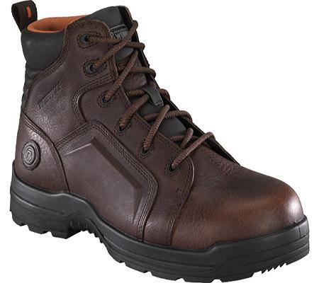 Men's Rockport Works RK6640, Brown Waterproof Tumbled Full Grain Leather, large, image 1