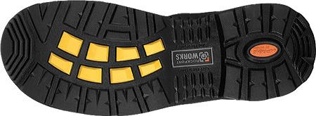 Men's Rockport Works RK6635, Black Waterproof Tumbled Full Grain Leather, large, image 2