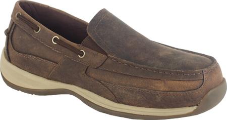 Men's Rockport Works RK6737, Brown Crazy Horse Leather, large, image 1