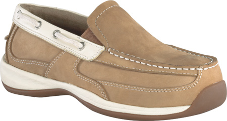 Women's Rockport Works RK673, Tan/Cream Crazy Horse Leather, large, image 1