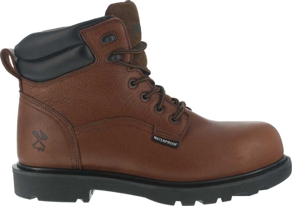 "Men's Iron Age Hauler 6"" Waterproof Work Boot IA0160, Brown Leather, large, image 2"