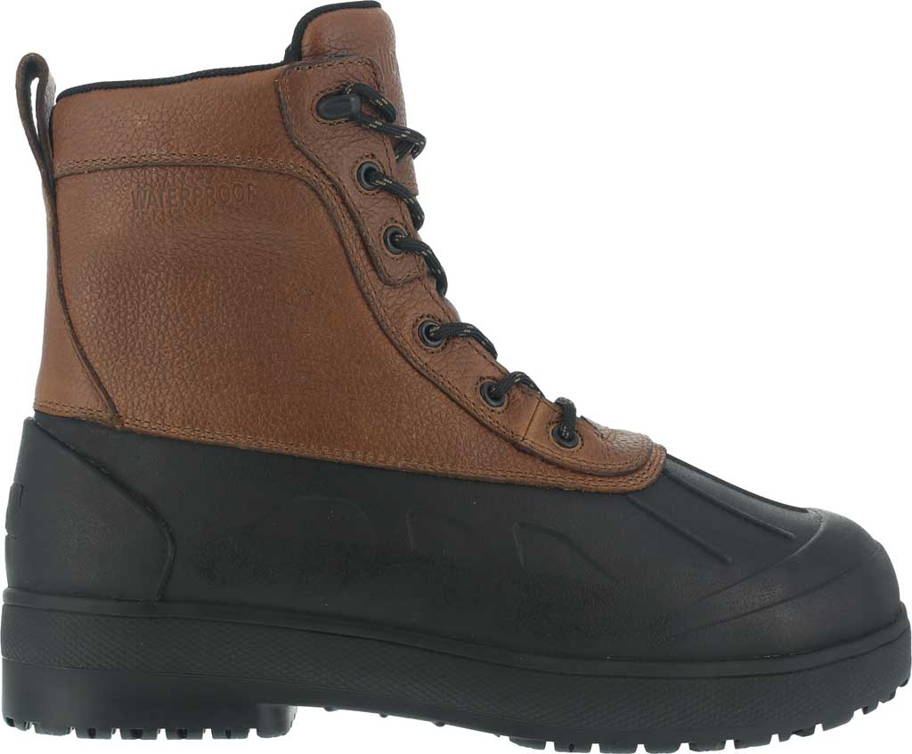 Women's Iron Age Compound Shaft Boot IA965, Black Rubber/Brown Leather, large, image 2